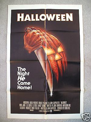 HALLOWEEN * 1978 ORIGINAL MOVIE POSTER 1SH MICHAEL MYERS MASK THE THING FOG NM-M (Halloween The Movie Mask Origin)