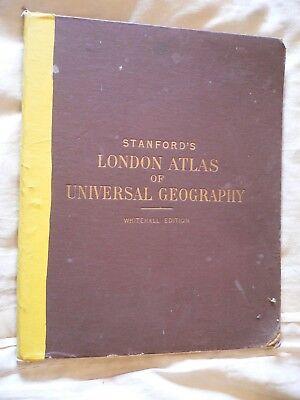 Stanford's London Atlas of Universal Geography Whitehall Edition Gazeteer