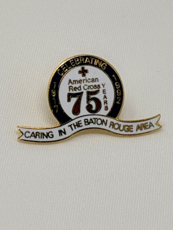 American Red Cross ARC Pin Caring In The Baton Rouge Area Celebrating 75 Yrs 8/6