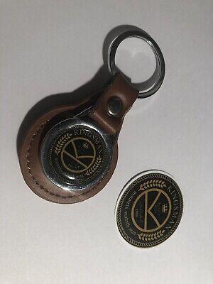 Kingsman 'Manners Maketh Man' Genuine Leather Keyring &   Kingsman Sticker