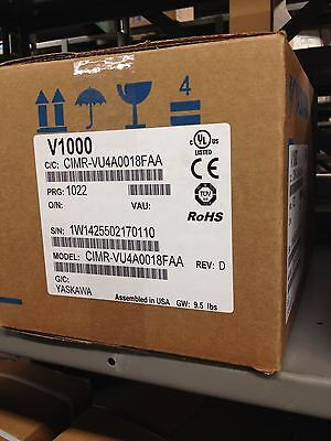 Yaskawa 10hp 17.5 Amps V1000 Vfd Cimr-vu4a0018faa Variable Frequency Drive Nib
