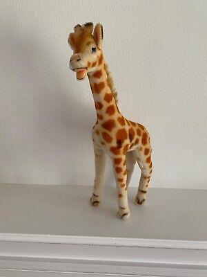 1950s Vintage Toy Steiff Mohair Giraffe Excellent Mohair & Airbrushing H.: 50cm