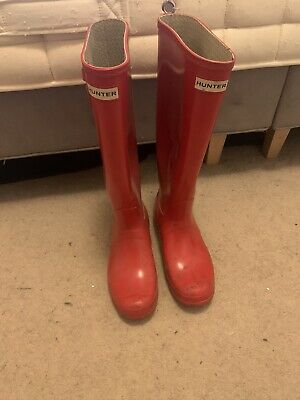 Ladies Red Hunter wellies size 6
