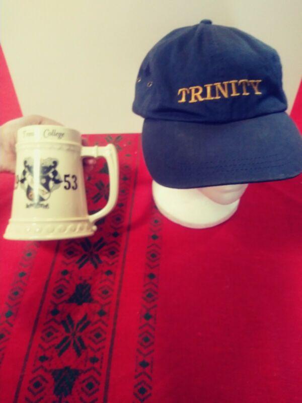 Vintage 1953 Trinity College Hat and Beer Mug