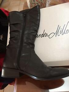 Black leather knee length boots Caringbah Sutherland Area Preview