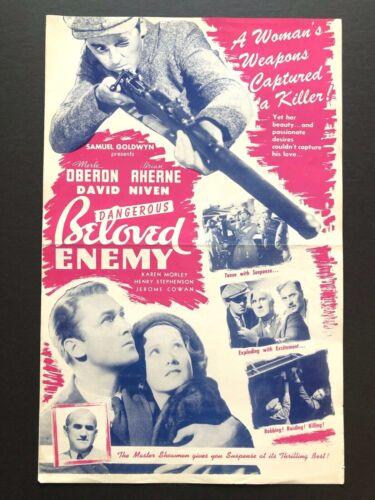"Beloved Enemy Original Pressbook (1936) - 4 Pages - 11"" x 17""  EX+"