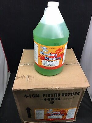 Beverage Mix Case 4 1 Gallon Slush Mix Drink Concentrate Monk Margarita Frozen