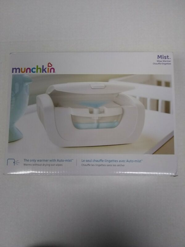 Munchkin Mist Wipe Warmer New With Auto Mist Opened box!