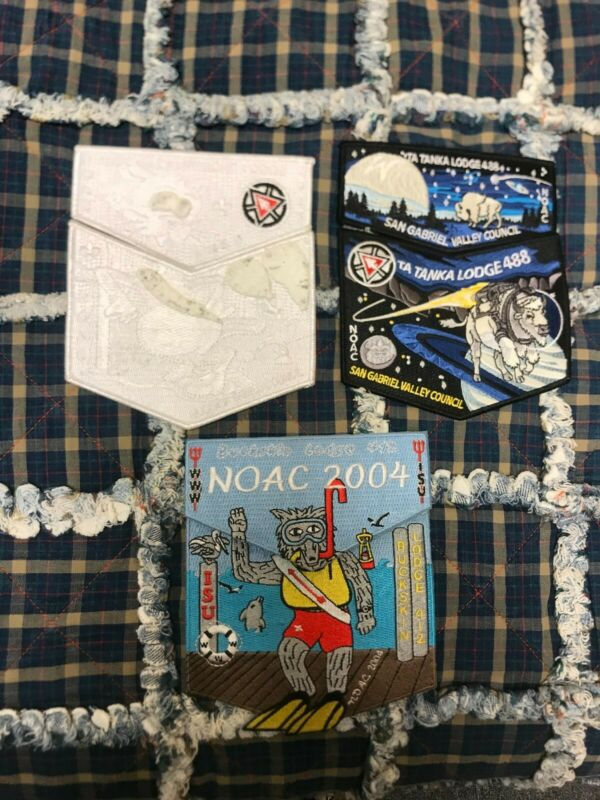 Jamboree 2004 and 2017 Order of the Arrow Patch lot Noac
