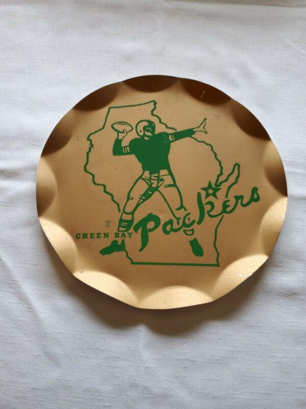 Vintage Rare Green Bay Packers 1961 Tin Tray