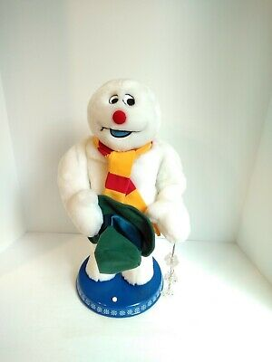 Rare Gemmy Frosty The Snowman Christmas Animated Dancing Spinning Snowflake 18""