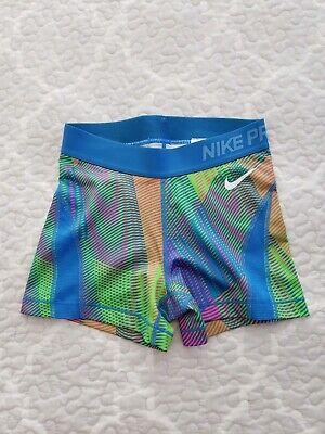 NEW Nike Pro womans multi color bike yoga athletic shorts