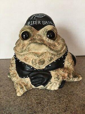 "Toad Hollow Born to Ride Biker Babe 5.5"" Motorcycle Figurine"