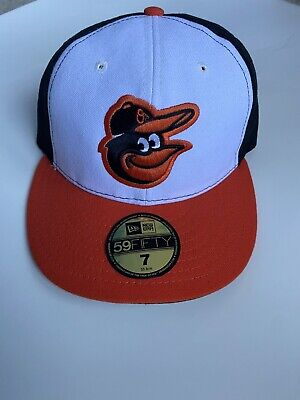 MLB APPAREL BALTIMORE ORIOLES NEW ERA FITTED CAP - SIZE 7 - NEW, UNWORN