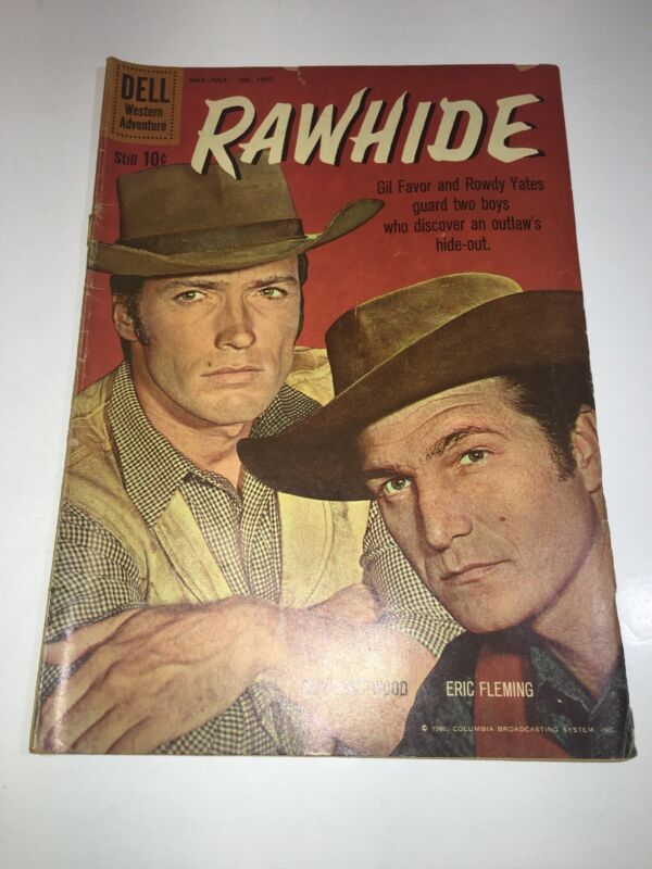 """RAWHIDE, # 2 1960 DELL FOUR COLOR COMIC #1097, """"VERY NICE"""" UNGRADED SILVER AGE"""