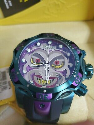 Invicta Reserve Venom DC Comics Joker Chronograph 52mm Swiss Mvt Watch New