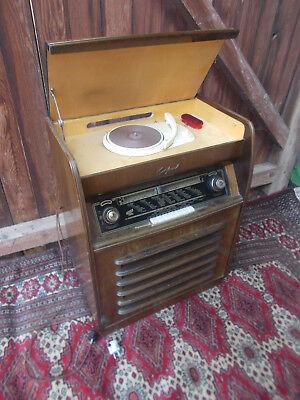 Violetta W532 Tonfunk GmbH Musiktruhe Radio 50er Jahre mit Schellackplatten