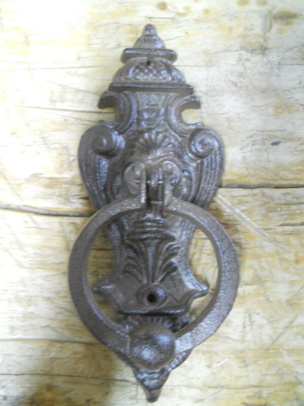 Cast Iron Antique Style VICTORIAN Door Knocker Brown Finish