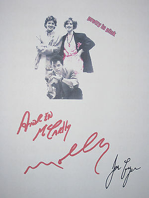 Pretty in Pink Signed Movie Script X3 Molly Ringwald Jon Cryer McCarthy reprint