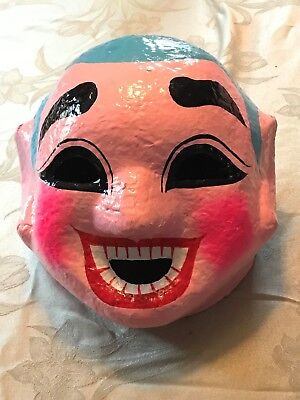 Lion Dance Monk Mask with Palm fan included