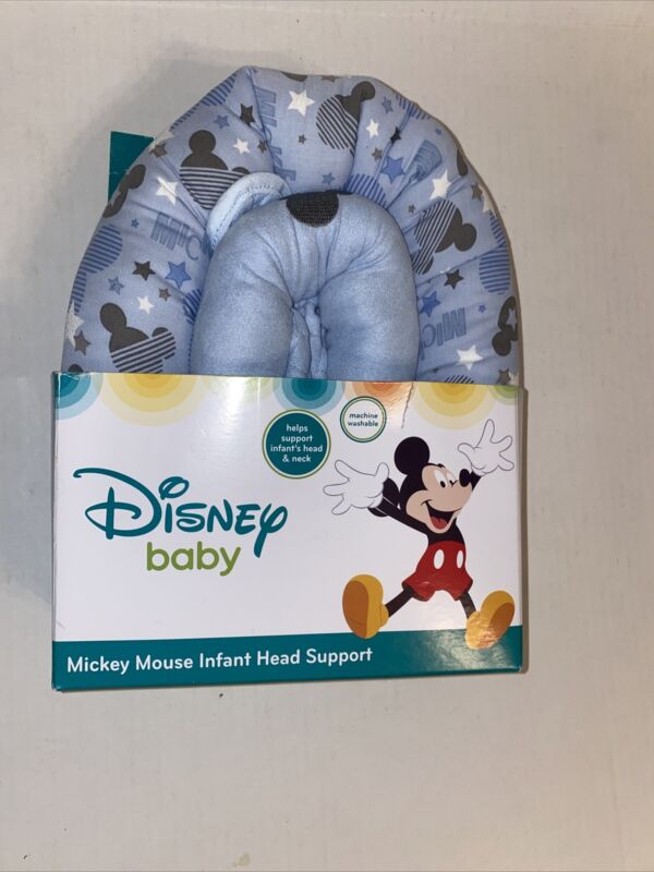 Disney Mickey Mouse Infant Head Support Blue Machine WashableNEW SEALED IN BOX !