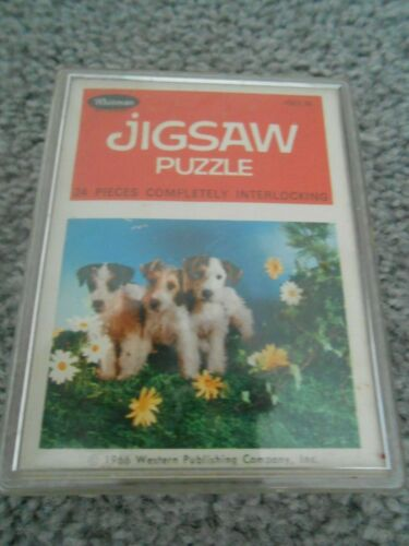 Whimsical Whitman Jigsaw Puzzle with wire fox terriers from 1966