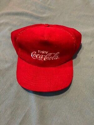 Vintage Corduroy Coca Cola Snapback Hat