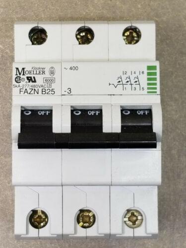 Moeller Fazn B25 Circuit Breaker, 5kA-277/480VAC, 25A.