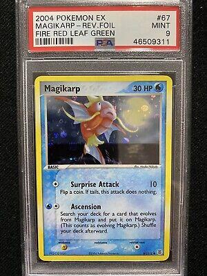 2004 Pokemon EX FireRed & LeafGreen Magikarp Reverse Foil 67/112 PSA 9 Mint