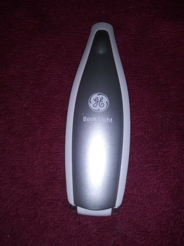 GE LED Book Light - Slim Battery Operated, Clip-on - Silver color - Used