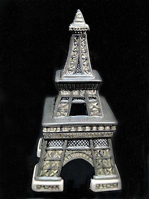 Salt & Pepper Shakers - EIFFEL TOWER Treasure Craft Ceramic Year 2000 NIB
