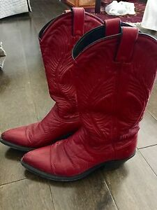 Ladies red cowboy boots size 7