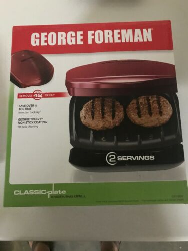 George Foreman Champ Countertop Nonstick Indoor Electric Kit