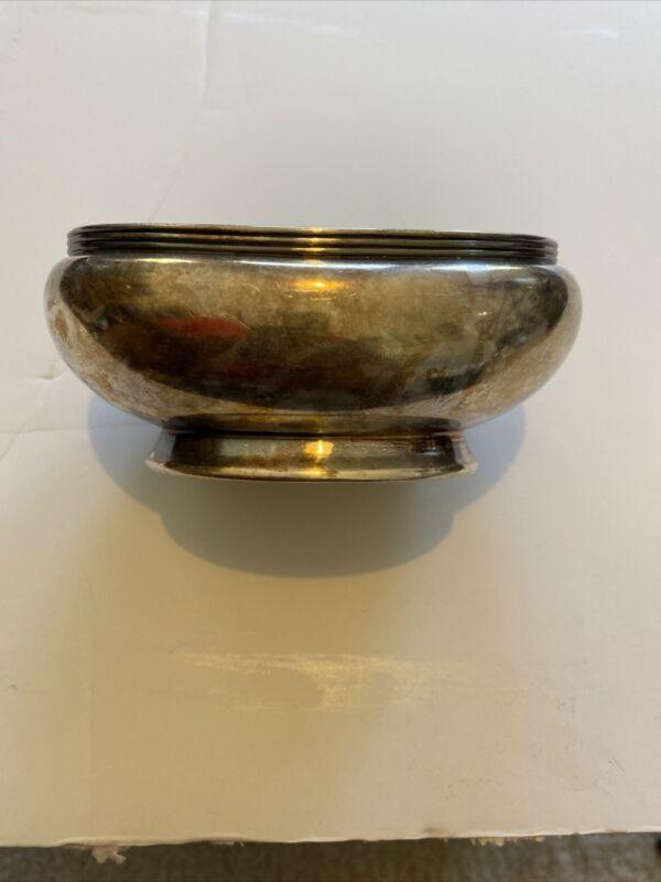 R. Wallace Silver Soldered 0333  6oz Sugar Bowl