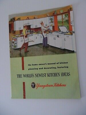 1952 YOUNGSTOWN KITCHENS Steel CABINETS new  DESIGN Mullins Catalog