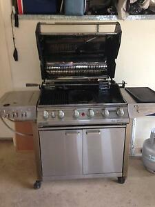 Stainless Steel 6 Burner BBQ with Rotissere & Wok Burner Gawler East Gawler Area Preview