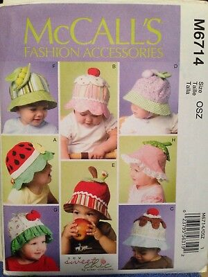 Summer Crafts For Toddlers (TODDLERS' SUMMER HATS, for Babies, too! - Sewing PATTERN McCall's)