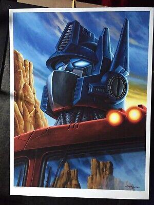 Jason Edmiston Optimus Prime Poster Transformers Mondo 80s Autobot Autobots Transformers Prime-poster