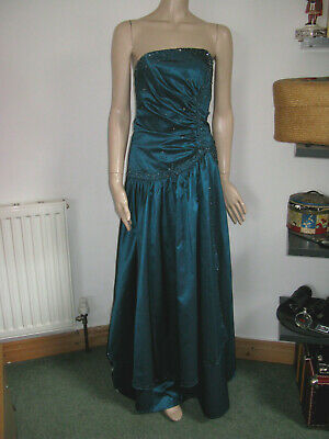 Used, Frenchie blue black dress promenade cocktail party ball prom gown ballgown 8 for sale  Shipping to Nigeria
