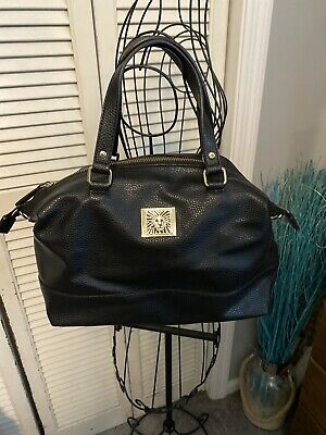 Anne Klein Black Purse Tote Handbag