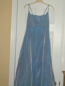 PROM/GRAD LIGHT BLUE GOWN WITH SHAWL