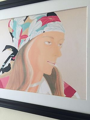 "Alex Katz (b. 1927) Art ""Anne"" Framed Lithograph Print Large Size Nice Colors!!"