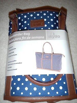 New Skylite weekender bag Blue & White Large