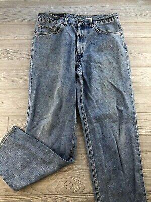 Levis 550 Blue Jeans Relaxed Fit Tapered Leg Medium Wash Men Sz 34X32 Denim