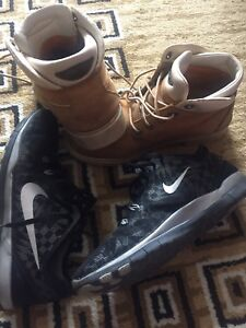 Timberland boots and Nike shoes