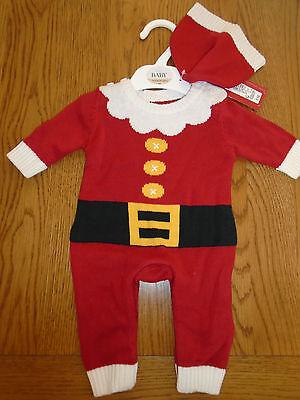 BNWT baby girl/boy Father Christmas /santa fancy dress up outfit. NEWBORN