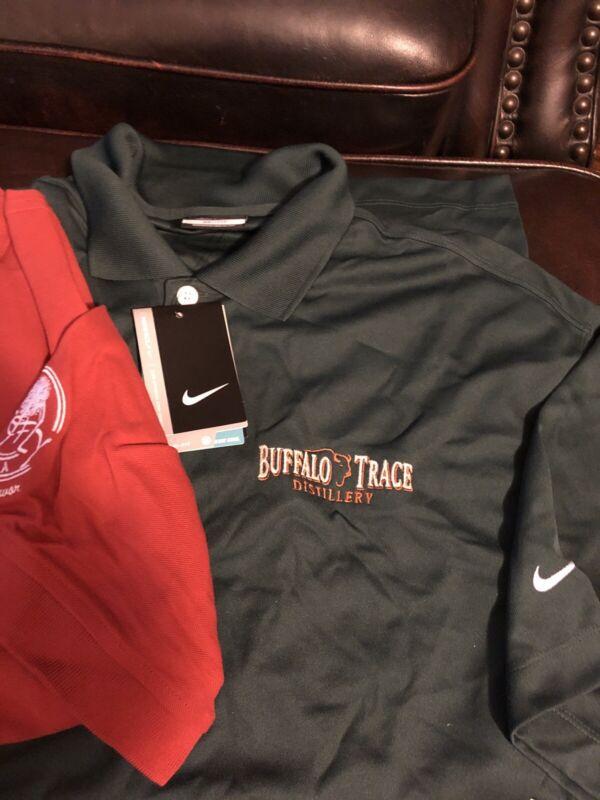 NEW BUFFALO TRACE DISTILLERY BOURBON NIKE GOLF DRiFIT & FIREFLY Shirt Mens Large