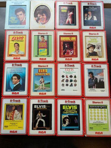 16 Elvis 8-tracks in cardboard cases - all near mint!