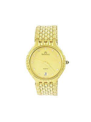 Romanson Gold Tone Swiss Made Wrist Watch