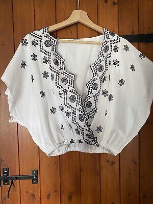Zara Embroidered Crop Top